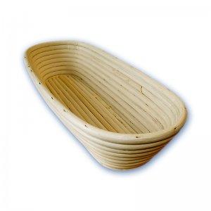 Gärkörbchen oval 1500g, 355x140mm Peddigrohrkörbchen