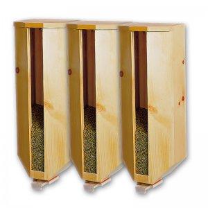Getreidesilo (3x5kg) aus Zirbenholz