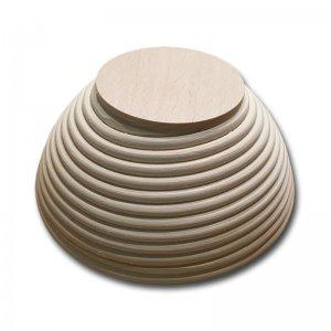 Bild 2 zu Artikel  Gärkörbchen rund für 500 bis 750g-Brot mit Stempel HERZ