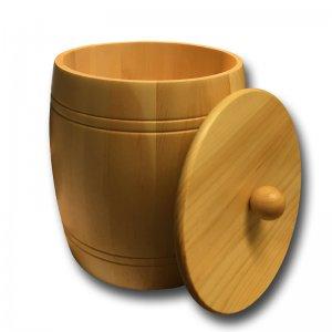 Bild 2 zu Artikel Getreidefass 5,0 kg aus massivem Zirbenholz