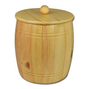 Osttiroler Getreidefass 5,0 kg aus massivem Zirbenholz
