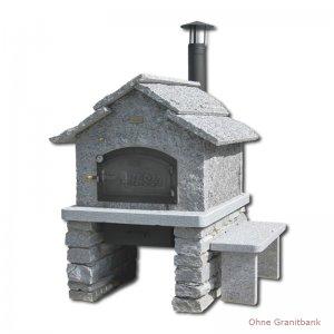 Steinofen-Fertigbausatz Modell Tessin 4/6 mit Rauchrohr