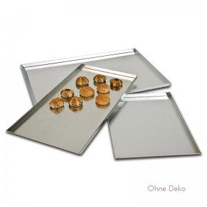 Backbleche aus Aluminium (Rand 3 cm)